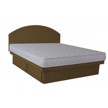 Hardside Waterbed - Chocolate Suedette