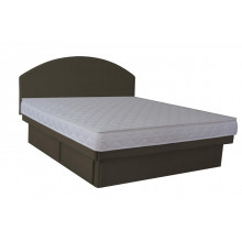 Olympia Deluxe Softside Waterbed Charcoal Suedette