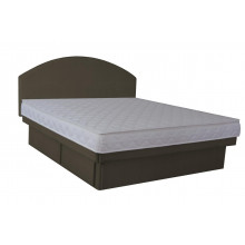 Hardside Waterbed - Charcoal Suedette