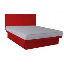 Hardside Waterbed - Woven Red